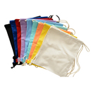 Colorful Durable 12oz. Cotton Canvas Drawstring Tote Bags, 12.5