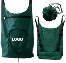 Custom 210D Polyester Fold Up Backpack (Round Shaped), 13 2/5