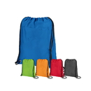 Blank Insulated Drawstring Cooler Pack with Large Front Pocket, 16 1/2