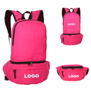 Custom Foldable Waterproof Nylon Backpack, Fanny Pack, 15 3/4