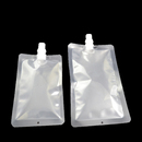 (Price/50 PCS) Clear Flat Spouted Drink Bags for Jam, Juice, Milk Packaging (6.75 oz, 10 oz), 4.7mil, 8.6mm Spout, FDA Compliant