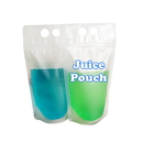 Custom Frosted Ziplock Stand-up Juice Pouches w/Handle, 4 Mil, 12 oz to 16 oz