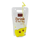 (Price/50 PCS)Aspire 16oz Stand Up Cartoon Elephant Pattern Ziplock Juice Pouches w/Handle, Heat-proof Frosted drink bags