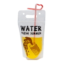 (Price/50 PCS)Aspire Cartoon Pattern Ziplock Juice Pouches w/Handle, Heat-proof Frosted drink bags, 16oz