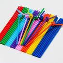 (Price/50 PCS) Assorted Flexible Drinking Straws, 10.2