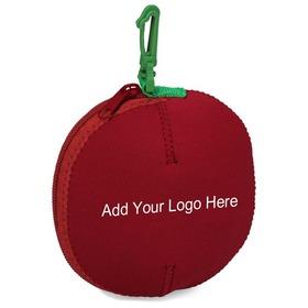 "Customized Neoprene Apple Fruit Bag, 5-1/2"" Diameter, Price/Piece"