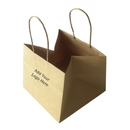 Custom Printed Wide Gusset Bags/Take-Out Bags, 4 3/4