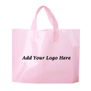 Promotional Plastic Bag with Soft Loop Handles, 2.5 Mil, 12 1/2
