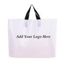 Custom Recycled Plastic Soft Loop Shopping Bags, 2.5 Mil, 20