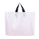 50-Pack  Recycled Plastic Soft Loop Shopping Bags, 2.5 Mil, 20