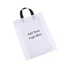 Custom Recycled Plastic Soft Loop Shopping Bags, 2.5 Mil, 16