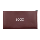 Custom Vinyl Leatherette Zipper cash bag, company security bank deposit, 11