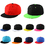 Opromo Plain Two-Tone Flat Bill Snapback Hat - Baseball Cap Adjustable