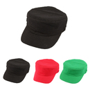 Blank Kids Plain Army Military Cadet Style Cotton Army Cap Hat, Long Leadtime