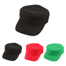 Opromo Solid Plain Kids Boys & Girls Military Cadet Style Cotton Army Cap Hat