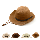 Opromo Kids Western Cowboys Straw Hat Wide Brim Summer Beach Hat Caps