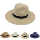 Opromo Havana Hat Mens Womens Straw Sun Hat Panama Fedora Beach Hat Straw Hat