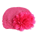 Opromo Cute Flower Infant Toddler Baby Girl's Crochet Knit Knitted Beanie Hats
