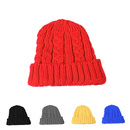 Opromo Unisex Kids Warm Cable Knit Beanies Children Fold-Over Winter Knitted Hat