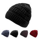 Opromo Men's Winter Knitting Skull Cap Wool Warm Fleece Lined Slouchy Beanie Hat