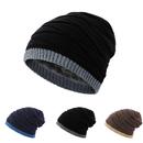 Opromo Men's Soft Fleece Lined Thick Knit Skull Cap Warm Winter Slouchy Beanies Hat