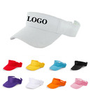 Custom Plain Solid Men Women Sports Golf Sun Visor Adjustable Velcro Cap Hat