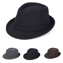 Opromo Unisex Timelessly Classic Manhattan Structured Gangster Trilby Fedora Hat