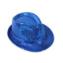 Opromo Adult Solid Color Sequins Trilby Fedora Hat Paillette Jazz Dancing Hat