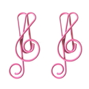 (Price/10 Paper Clips) Blank Lyric Shaped Metal Paper Clips, Music Notes, 1 1/2