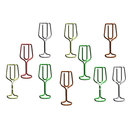 (Price/10 Paper Clips) Blank Champagne Flute Shaped Paper Clips, 1 1/2