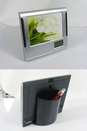 Customized Photo Frame with Pencil Box,Clock Pen Holder Photo Frame,6 1/8