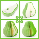 Custom Green Pear Shape Notes, promotional Pear Shaped Memo Pads