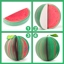 Custom Water Melon Shape Memo Pads, Promotional Notes Pads
