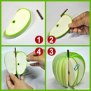 Blank Green Apple Shape Memo Pads, Promotional Green Apple Notes Pads