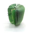 Blank Green Pepper Slice Memo Dispenser, promotional Green Pepper Notepads