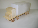 "Semi Truck Note Cube, Memo Pad,  6 7/10"" L*2"" W*3 1/5"" H, Long Leadtime"
