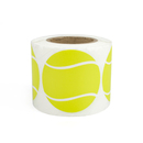 "Officeship Tennis Ball Sticker, 250pcs per Roll, 2""Dia - In Stock"