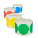 "2"" Removable Color Coding Dot Labels, 500pcs/Roll - In Stock"