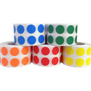 "Removable Color Coding Dot Labels, 1000pcs per Roll, 0.5""Dia"
