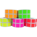 "0.5"" Mini Removable Self-Adhesive Square Color Coding Labels, 1000 stickers per Roll"
