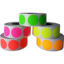 "Removable Color Coding Dot Labels, 1000pcs per Roll, 0.75""Dia"