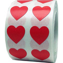 Removable Color Coding Labels, 1000pcs per Roll, 0.5 Inch - Heart Shape