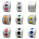 Removable Star Labels, 500pcs per Roll, 0.75 Inch - In Stock