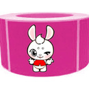 "Cute Rabbit Roll Sticker, 250pcs per Roll, 1.5"" x 2.5"", Pink"