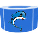 "Dolphin Roll Sticker, Funny Decoration, 250pcs per Roll, 1.5"" x 2.5"""
