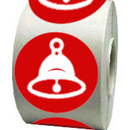 "Merry Christmas Small Bell Stickers, Jingle Bells Stickers, 250pcs per Roll, 2""Dia"