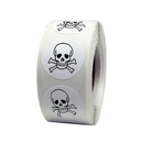"2""Dia Pirate Skull & Crossbones Party Favor stickers, 250pcs per Roll - In Stock"
