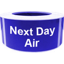 "Next Day Air Shipping Labels, 500pcs per Roll, 2"" x 4"" - Blue"