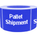 "PALLET SHIPMENT Labels, 500pcs per Roll, 2"" x 4"" - Blue"