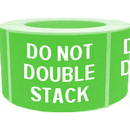 "DO NOT DOUBLE STACK Shipping Labels, 500pcs per Roll, 2"" x 4"" - Green"